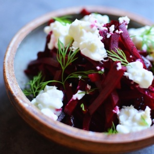 Beetroot with Horseradish, Cottage Cheese and Dill