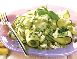 Greek Zucchini Salad with Crumbled Feta